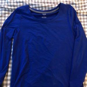 blue rafaella scoop neck long sleeve